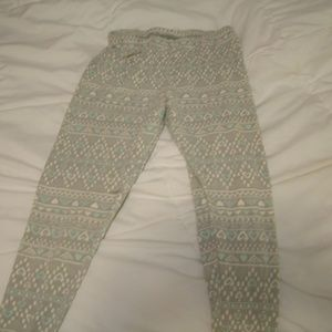 Gray Heart Leggings